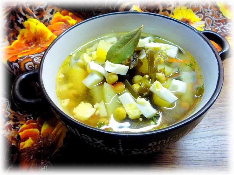 Супчики с ламинарией. Японский суп