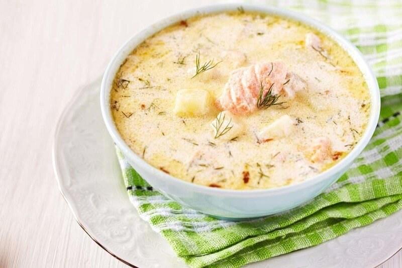 рыбный суп со сливками по фински