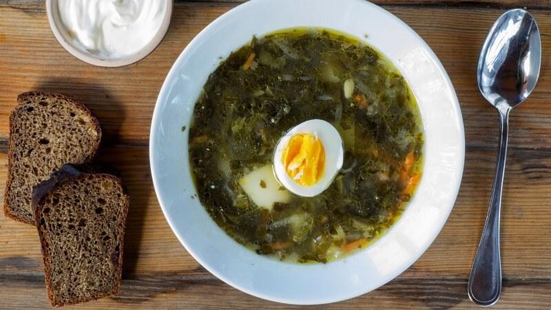 классический рецепт щавелевого супа