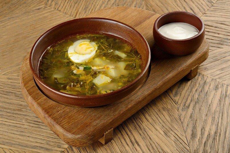 щавелевый суп рецепт классический с яйцом