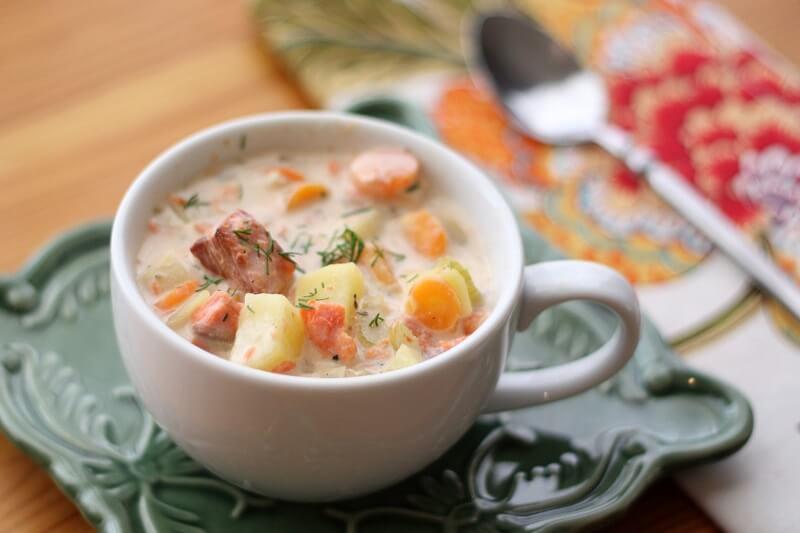 рецепт суп с семгой с сливками рецепт