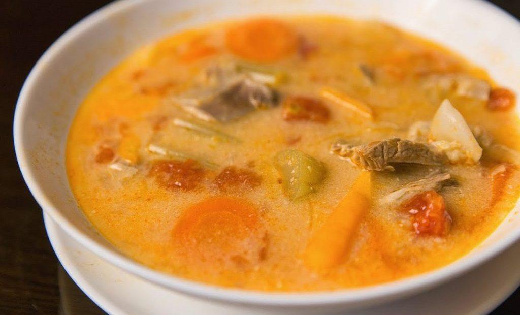 Суп из баранины по - сербски