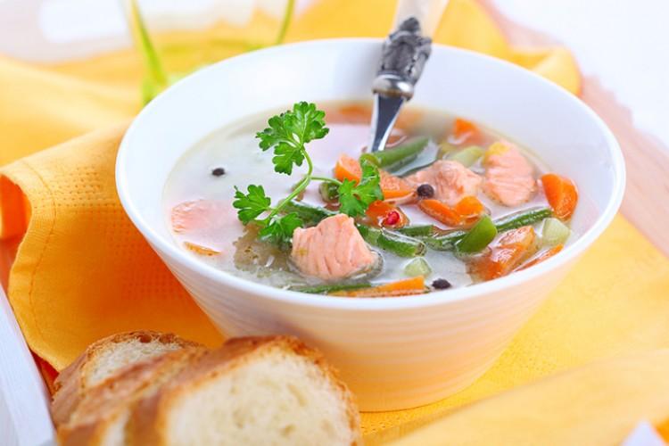 Суп с горбушей в масле