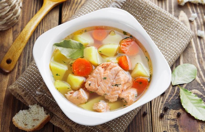 Суп с натуральной горбушей