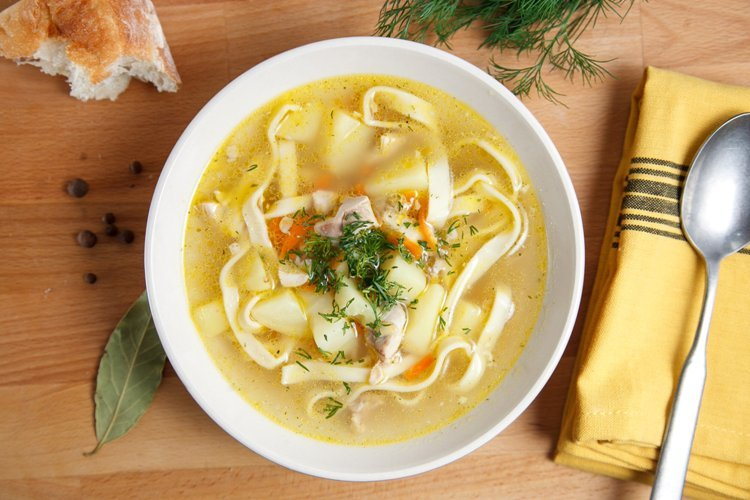 Суп с покупной лапшой