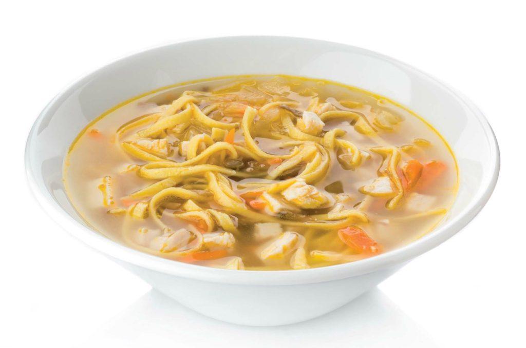 Суп с вермишелью и грибами
