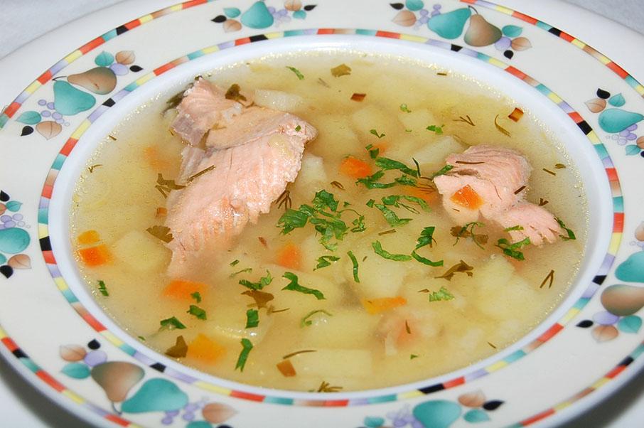 Суп из консервированной сёмги