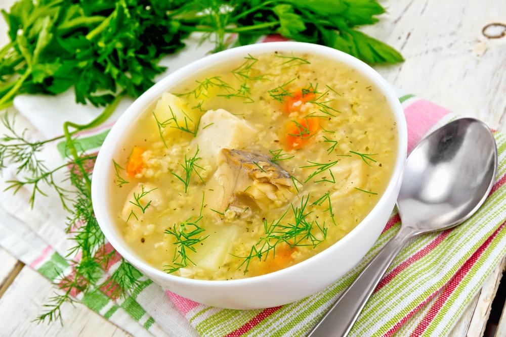 Суп из щуки с пшеном