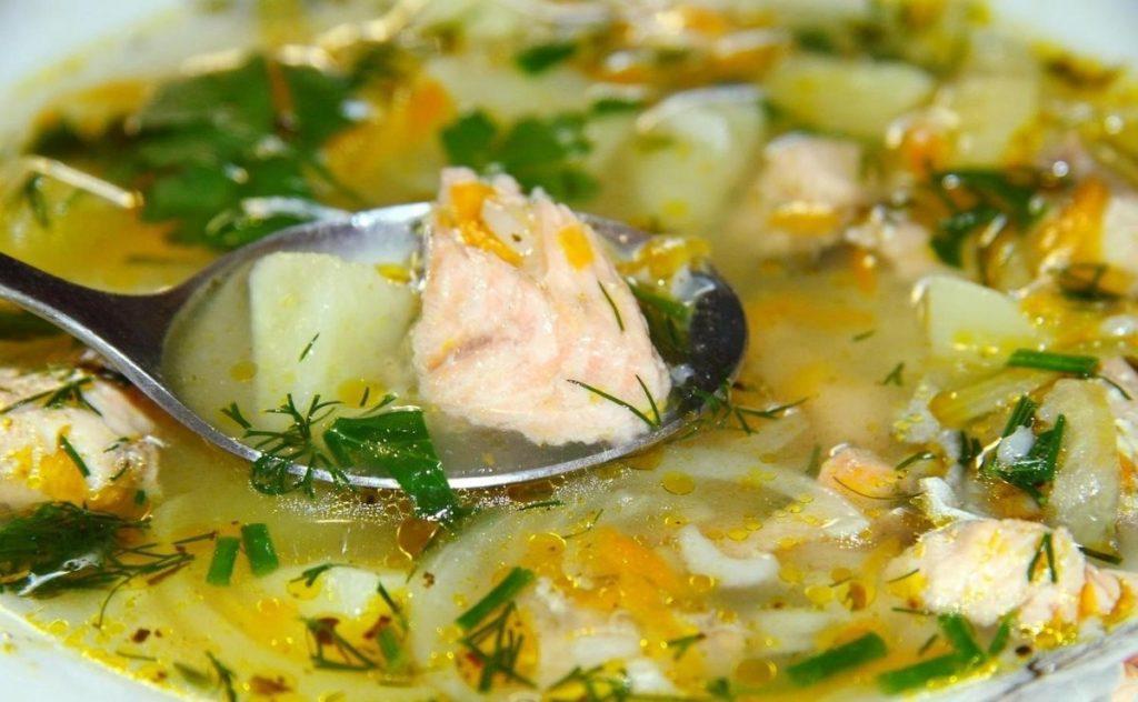 Суп из слабосоленой форели