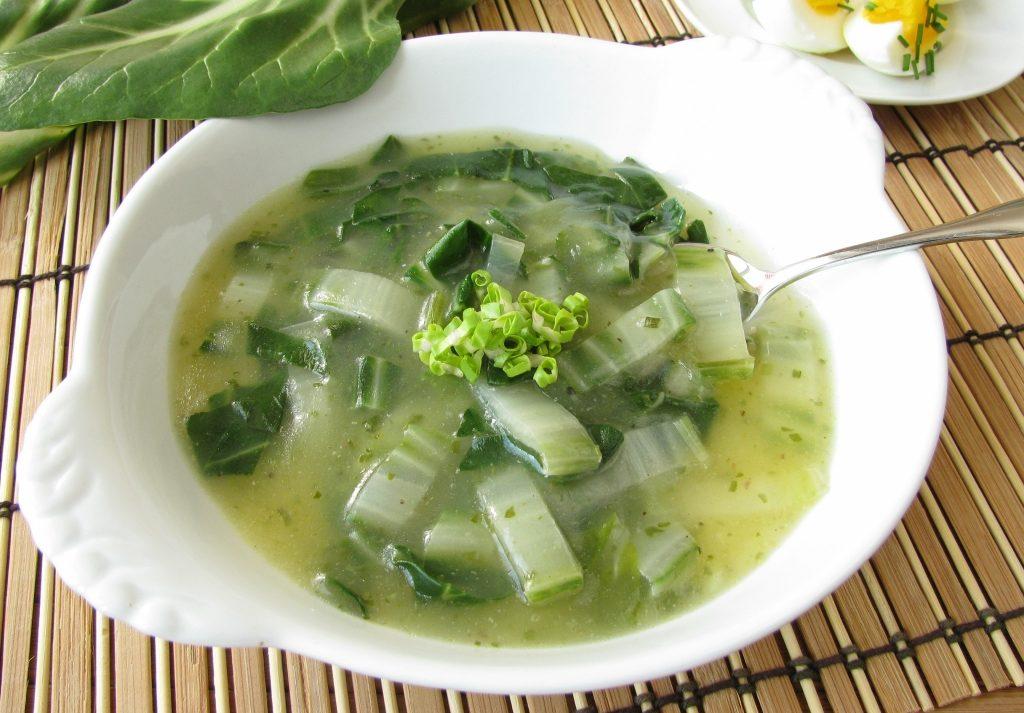Суп из угря с сельдереем