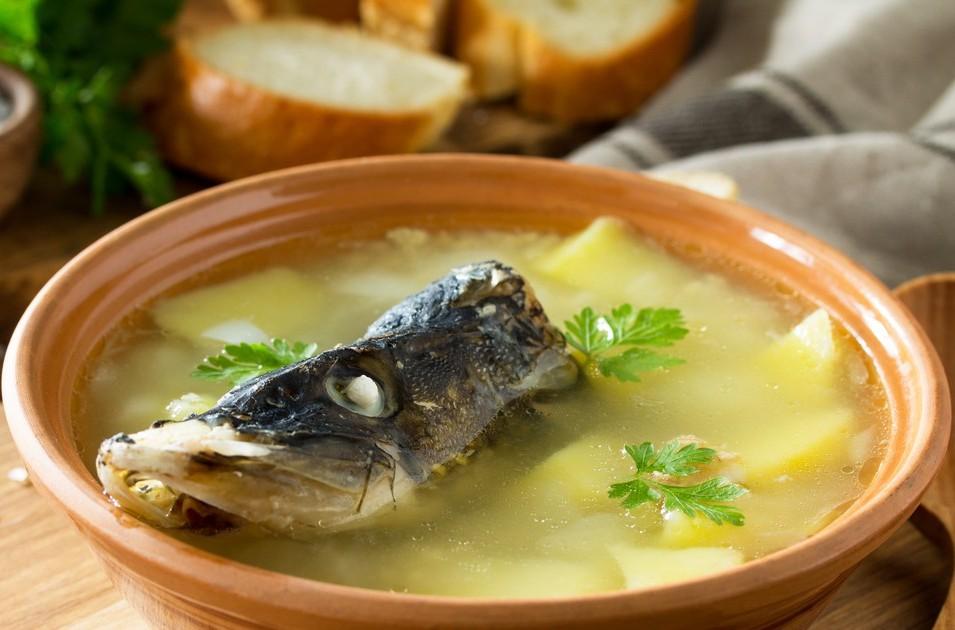 Суп из щуки и плотвы