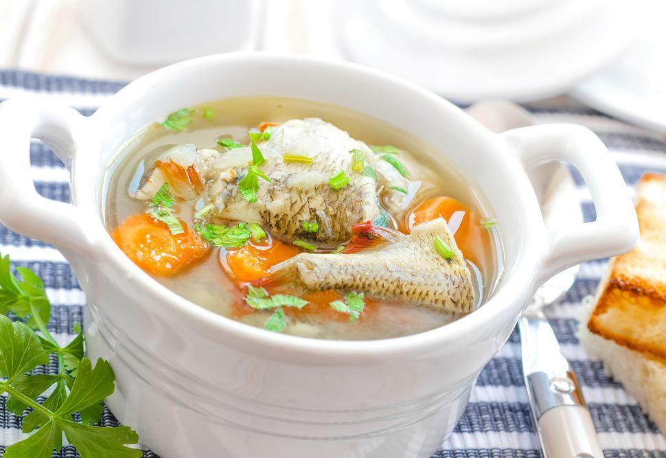 Рыбный суп без картофеля из налима