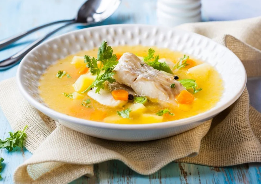 Суп из камбалы для детей