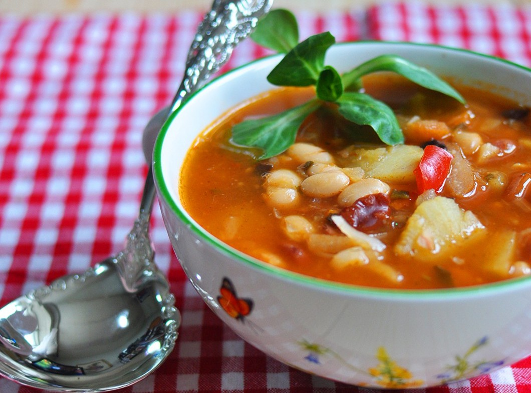 Фасолевый суп на зиму