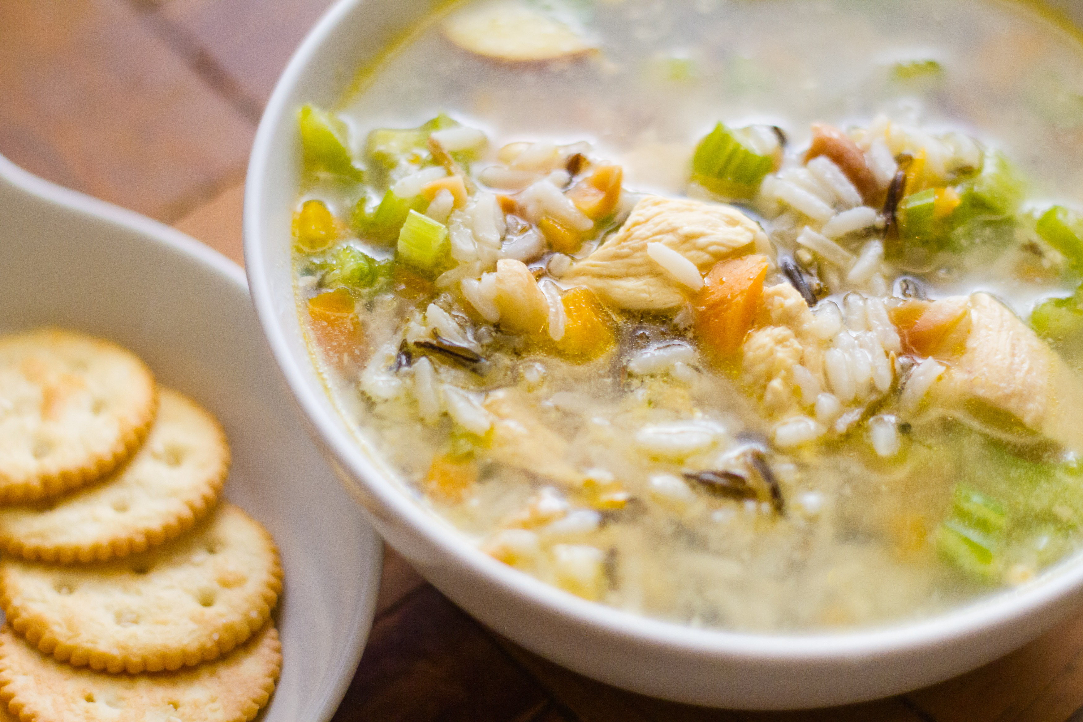 Рисовый суп с курицей