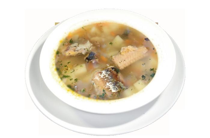 Суп из сайры консервированной