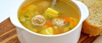 Суп с картошкой